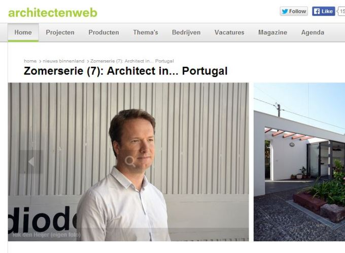 Interview on Architectenweb.nl