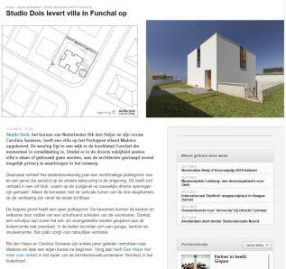 House in Ajuda in Architectenweb