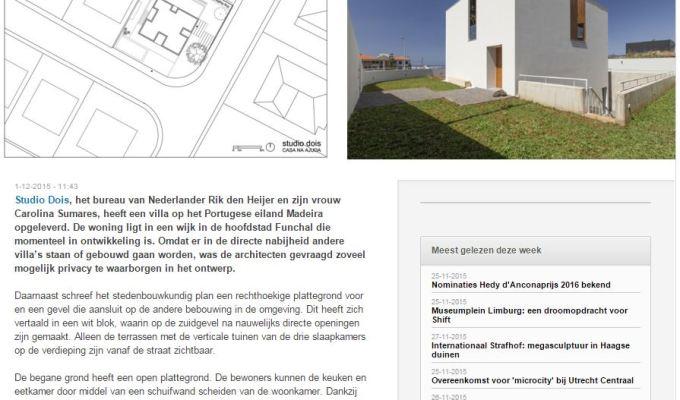 House in Ajuda inArchitectenweb
